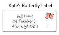 Kate's Pink Butterfly Baby Photo Card