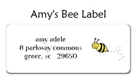 Amy's Bee Waterproof Label