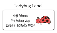 Looking Ladybug Folded Notecard