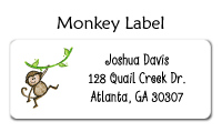 Monkey Waterproof Label