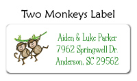 Two Monkeys Flat Card
