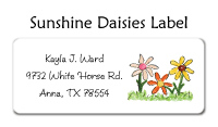 Sunshine Daisies Waterproof Label