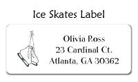 Girls Ice Skating Folded Notecard