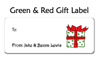 Green & Red Gift Personal Calling Cards