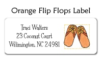 Orange Flip Flops Stationery