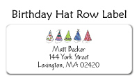 Birthday Hat Row Personal Calling Cards