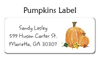 Pumpkin Address Labels