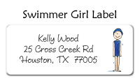 Swimmer Girl Thank You Note
