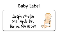 Sitting Baby Waterproof Label