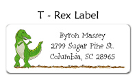 Dinosaur Address Labels