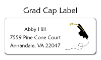 Graduation Cap Address Labels