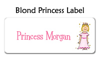 Red Head Princess Flat Note Card