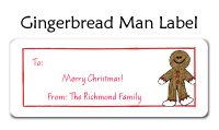 Gingerbread Man Baby Bib