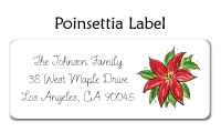 Poinsettia Flat Notecards