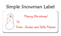 Simple Snowman Family Of 4 Folded Notecard