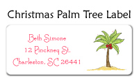 Christmas Palm Tree Waterproof Label
