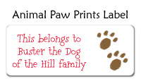 Animal Paw Prints Address Label
