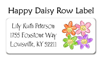 Happy Daisy Row Address Labels