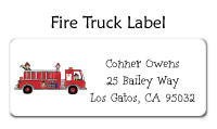 Fire Truck Waterproof Label