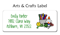 Arts And Crafts Address Labels
