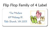 Orange Flip Flops Address Labels
