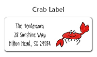 Crab Address Labels