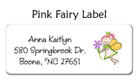 Pink Fairy Waterproof Label