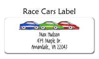 Race Car Address Labels