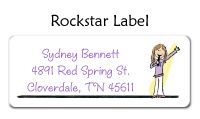Rock Star Waterproof Label