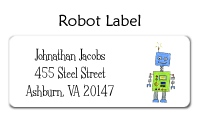 Robot Address Label