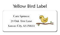 Yellow Bird Folded Notecard
