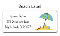 Beach Folded Notecard