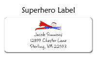 Superhero Folded Notecard