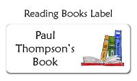 Reading Books Label