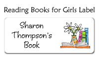 Reading Books for Girls Label