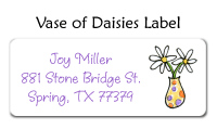 Flower Vase Address Labels