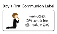Standing Communion Boy Invitations