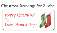 Christmas Stockings for 2 Labels