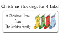 Christmas Stockings for 4 Labels