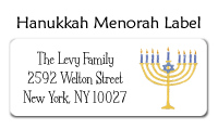 Menorah Address Labels