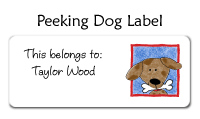 Peeking Dog Bag Tag