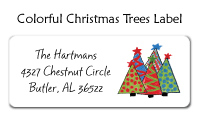 Colorful Christmas Trees Invitations