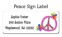 Peace Sign Address Labels