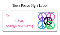 Teen Peace Sign Address Label