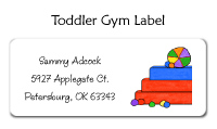 Toddler Gym for Girls Flat Card