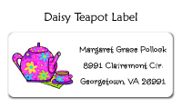Daisy Teapot Address Label