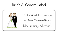 Bride and Groom Address Label