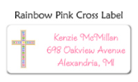 Rainbow Pink Cross Stationery