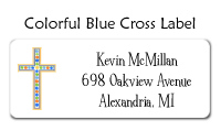 Colorful Blue Cross Invitation