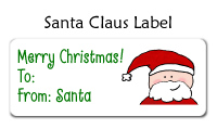 Santa Claus Label